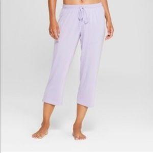 Women's Total Comfort Crop Pajama Pants Violet L